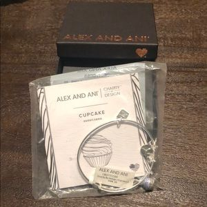 Brand new with tags alex and ani cupcake bangle